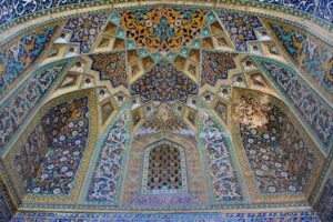 Ceiling at the Tomb of Omar Khayyam.© dynamosquito/flickr