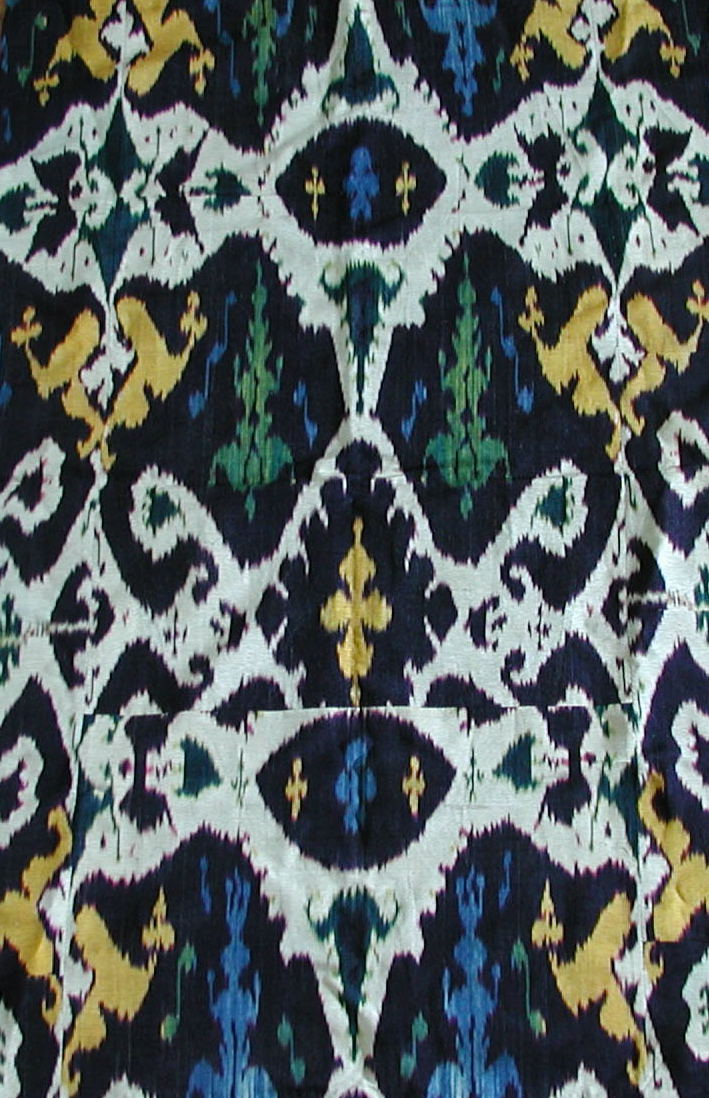 Antique Ikat Uzbekistan 19th Century