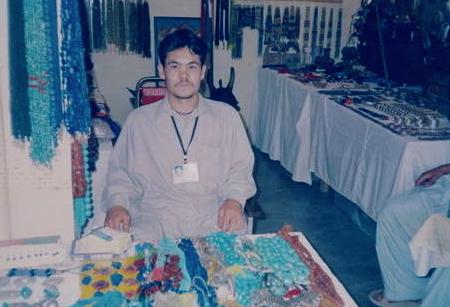 Afghan beads Mazar-I-Sharif Turquoise