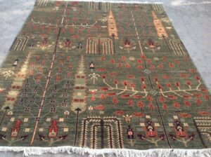 Rug with Trees from Lahore, Pakistan.