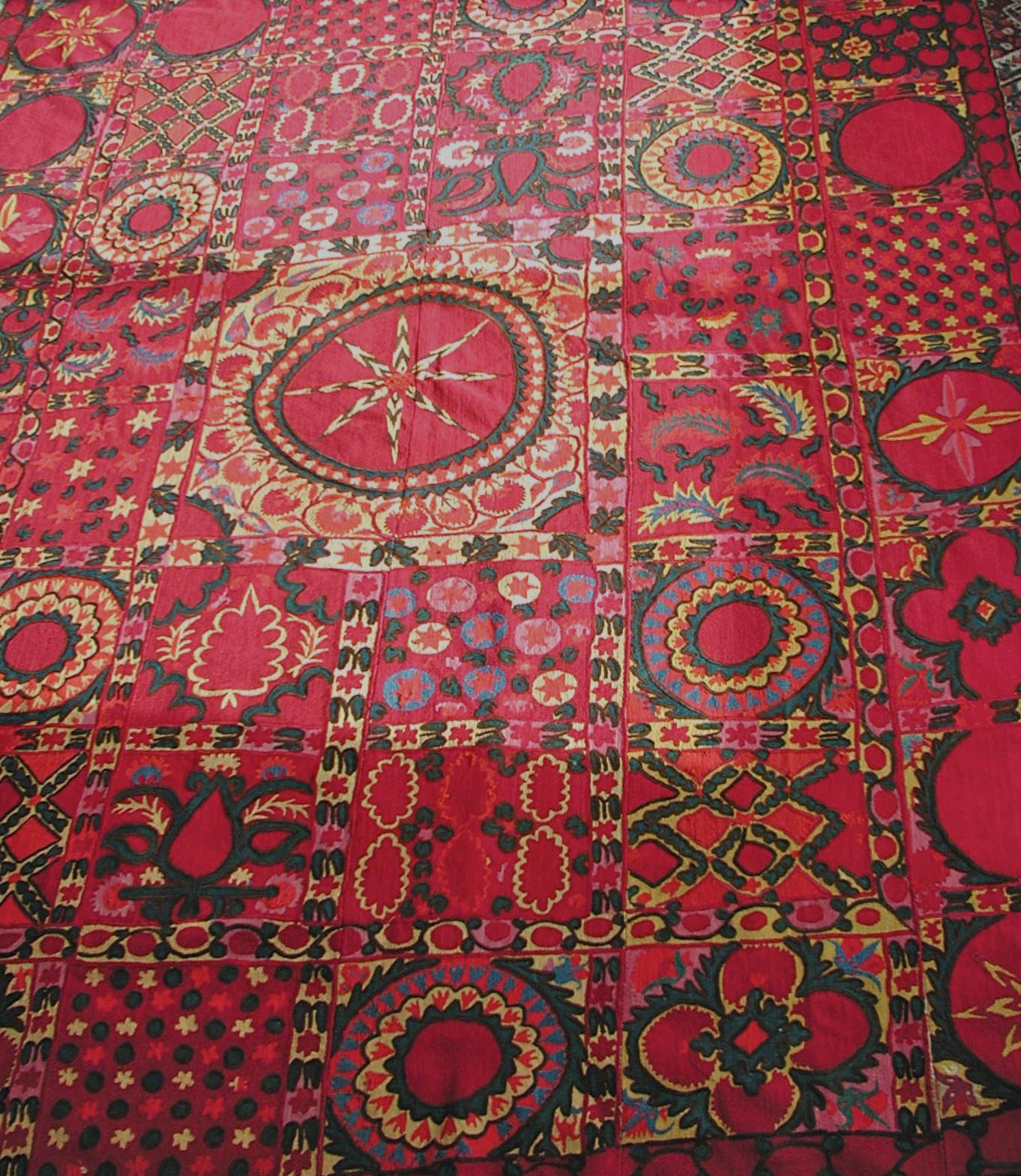 Antique Suzani Embroidery Uzbekistan Tashent Style