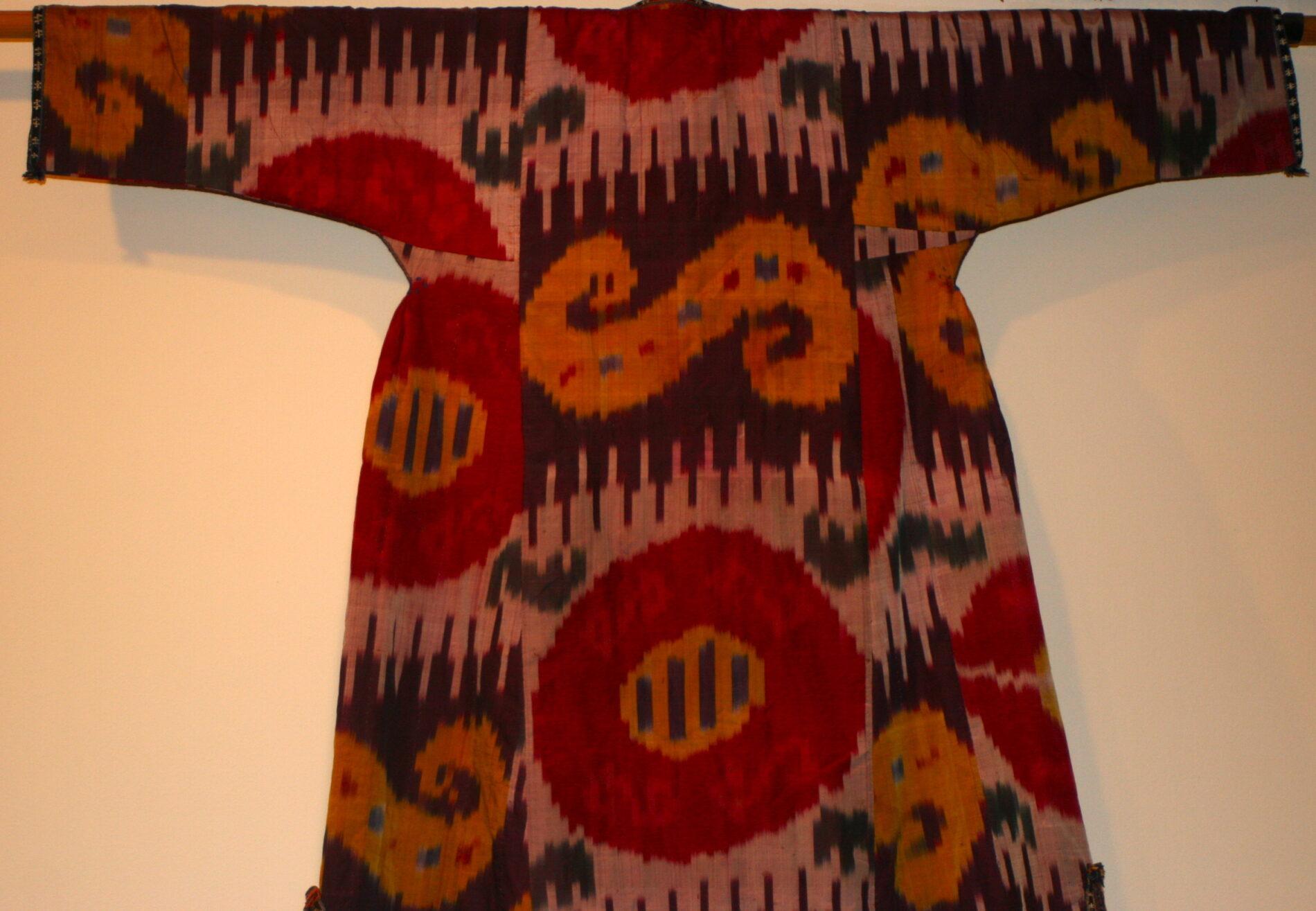 Antique Uzbek Chapan Robe Textile Silk