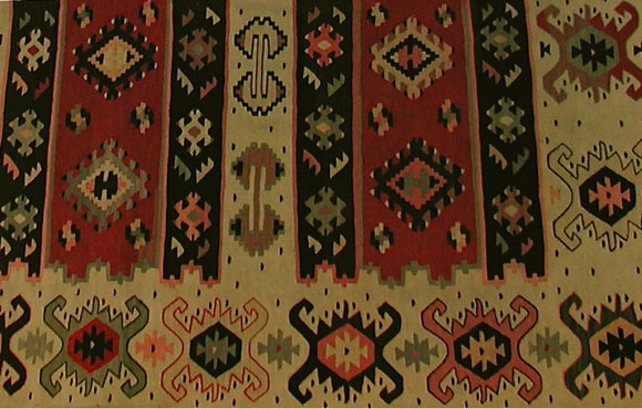 Antique Turkish Kilim flatweave carpet
