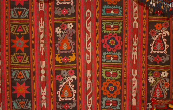 Uzbekistan Lakai flatweave kilim carpet
