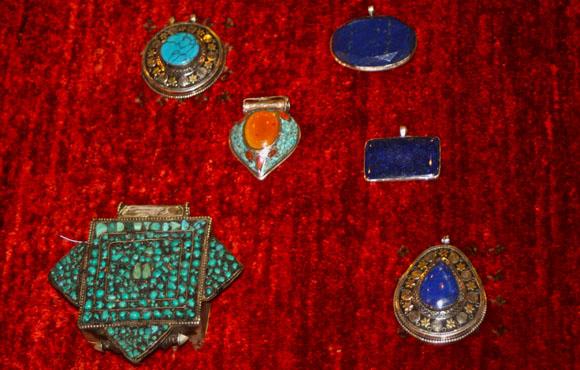 Pendants Tibetan Afghan Turquoise Lapis Lazuli Carnelian