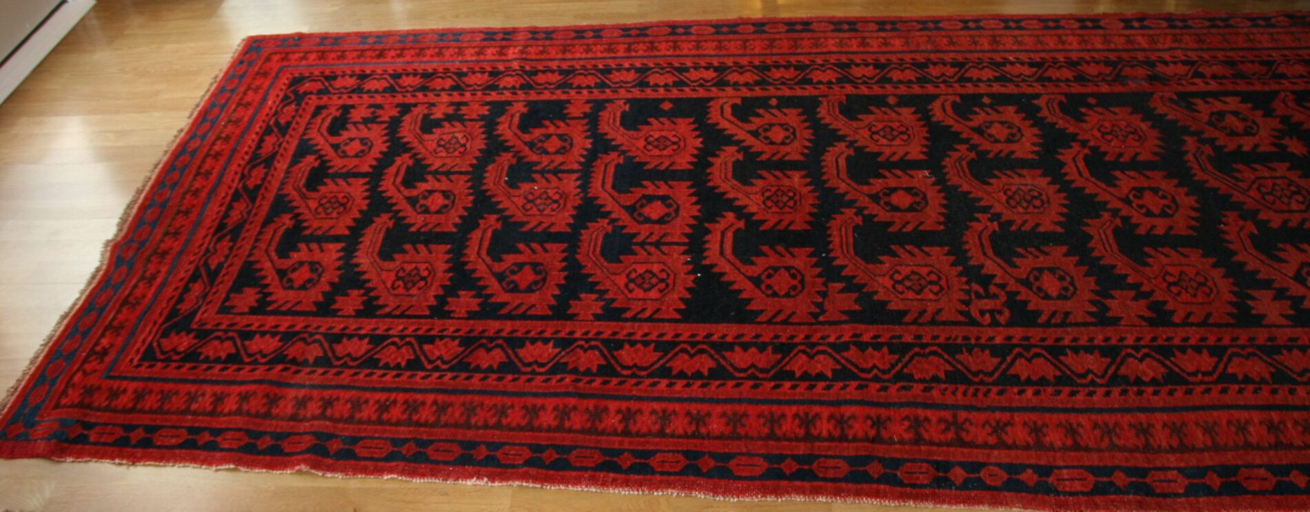 Unique Kyrgyz Rug with Botehs. © Sharon Lundahl