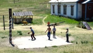 Kids Playing Basketball in Mongolia. © Fred Lundahl