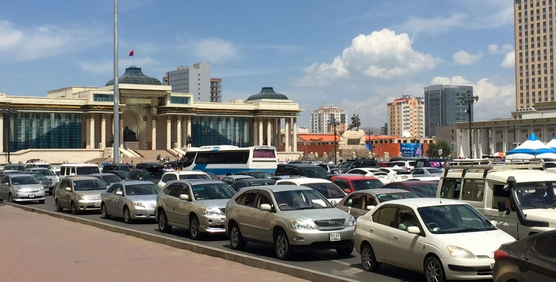 Traffic in Ulaan Bataar. © Fred Lundahl