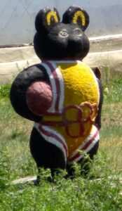 Basketball Mascot Lawn Art. © Fred Lundahl