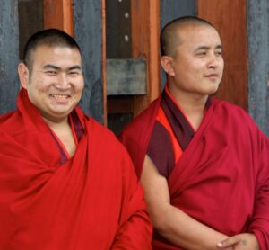 Monks in Bhutan.  © Sharon Lundahl.