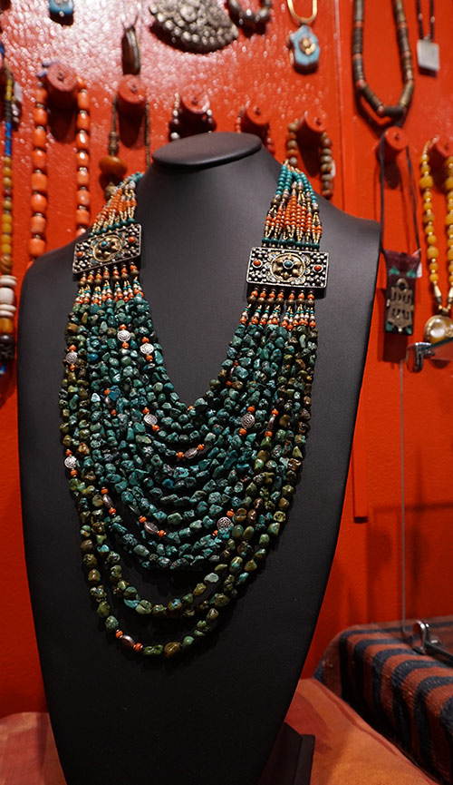 traditional tibetan jewelry necklace coral turquoise silver