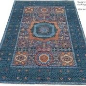 navy and red antique rug
